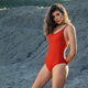Woman wearing red body posing in quarry - PhotoDune Item for Sale