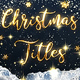 Christmas Gold Titles - VideoHive Item for Sale