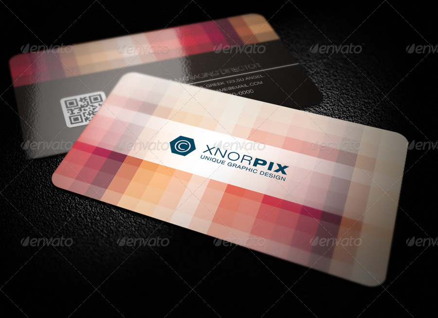 Pixel Business Card by -axnorpix | GraphicRiver
