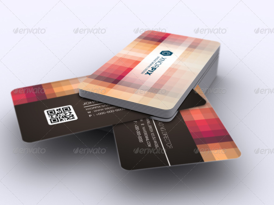 Pixel business card by axnorpix graphicriver business cardg colourmoves