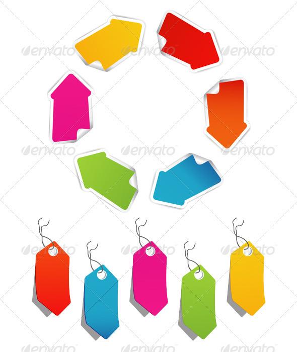 Blank color ribbon arrows design element - Decorative Symbols Decorative