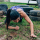 Participants in an obstacle course crawling - PhotoDune Item for Sale