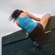 Participant in obstacle course climbing wall - PhotoDune Item for Sale