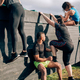 Participants in obstacle course climbing wall - PhotoDune Item for Sale