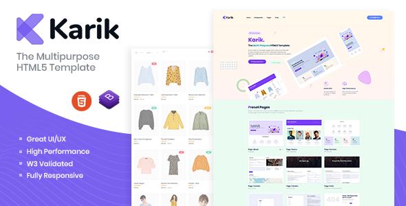 Karik - The Multipurpose HTML5 Template