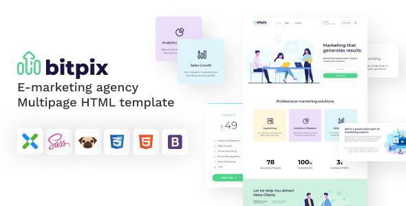 Bitpix - HTML5 E-marketing Agency Template