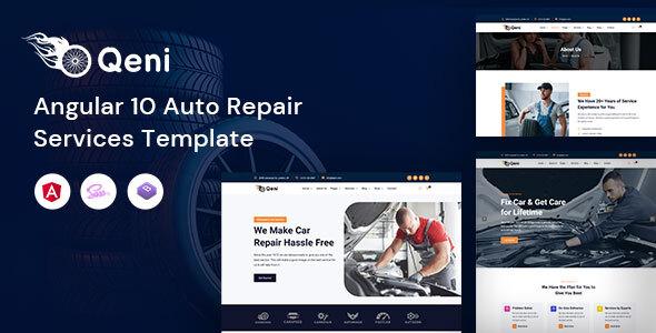 Qeni - Angular Auto Repair Services Template