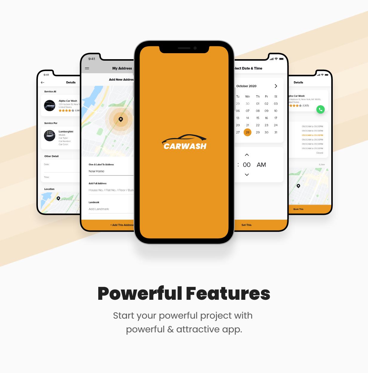Carwash Car Repair App Template Ionic 5 Android Ios By Saasmonks