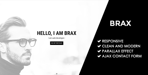 Brax | Responsive Personal Portfolio Template