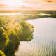 Belarus. Elevated View Of Green Forest Growth On River Coast Landscape In Sunny Summer Morning - PhotoDune Item for Sale