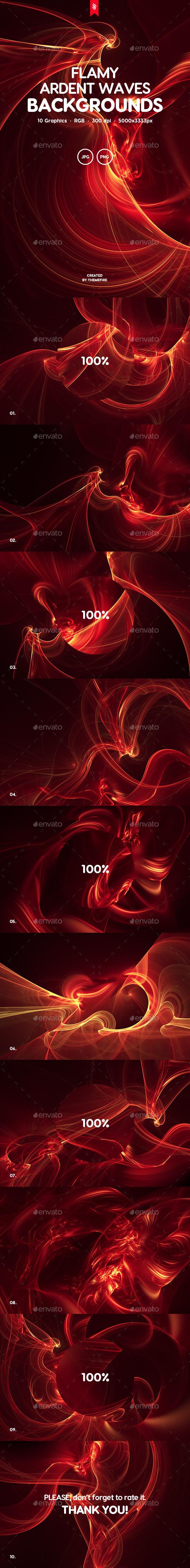 Flamy - Ardent Waves Background Set