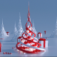 Abstract Christmas Trees (2 in 1) - VideoHive Item for Sale