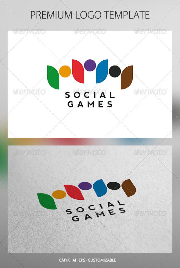 Social Games Logo Template - Humans Logo Templates