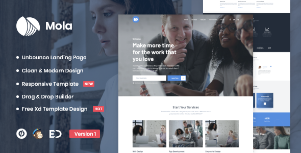 Mola - MultiPurpose Unbounce Landing Page Template
