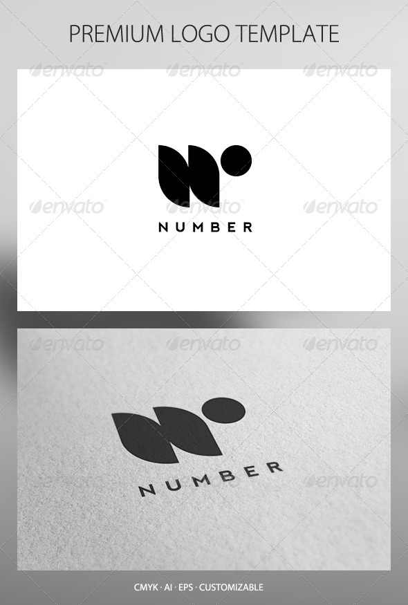 Number Logo Template - Letters Logo Templates