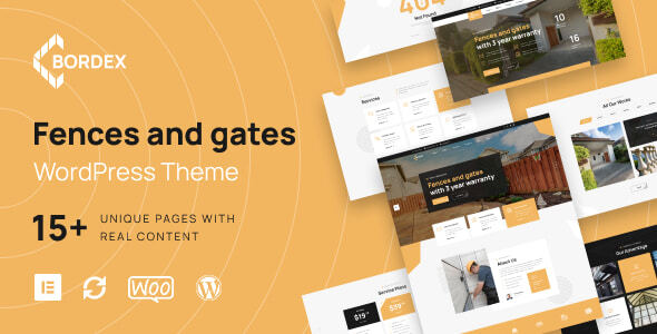 Bordex - Fences and Gates WordPress Theme
