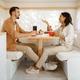Love couple having breakfast in rv, camping - PhotoDune Item for Sale