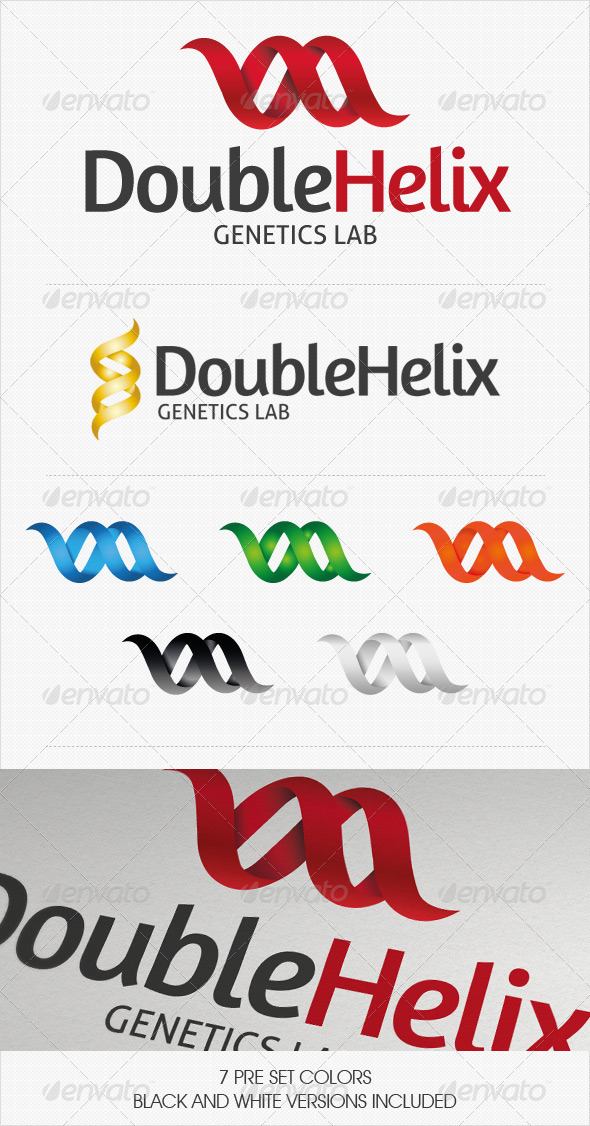 Double Helix Logo - Abstract Logo Templates