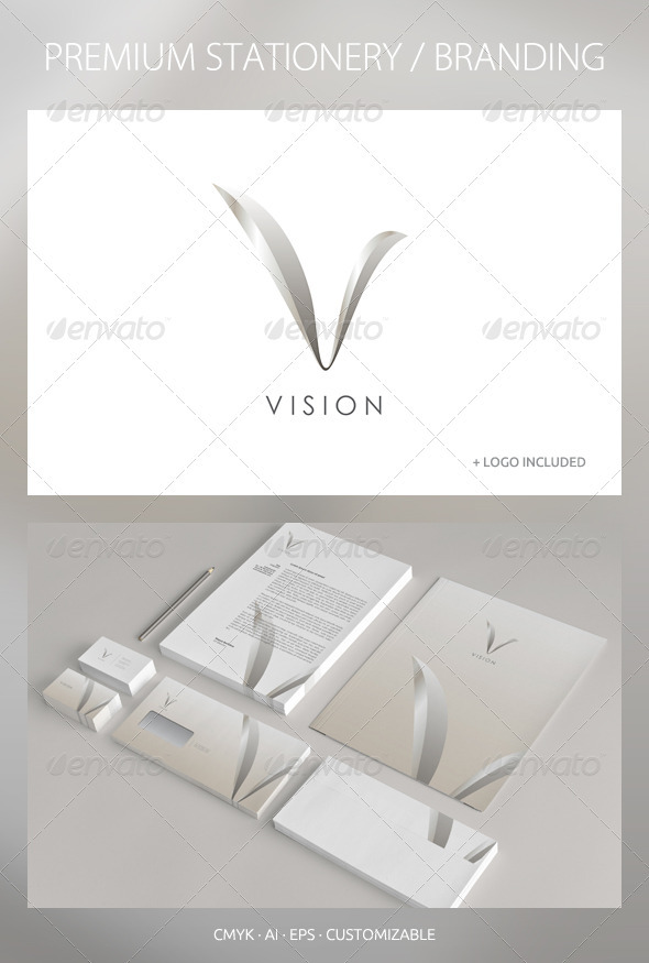 Vision - Corporate Identity - Stationery Print Templates