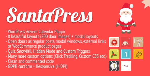 SantaPress - WordPress Advent Calendar Plugin & Quiz Nulled