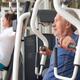 Man exercising at gym - PhotoDune Item for Sale