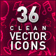 36 Clean Vector Icons - GraphicRiver Item for Sale