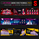 Esports Social Media Stream Gaming Video Thumbnail / Banner Overlay Photoshop Templates Bundle 1