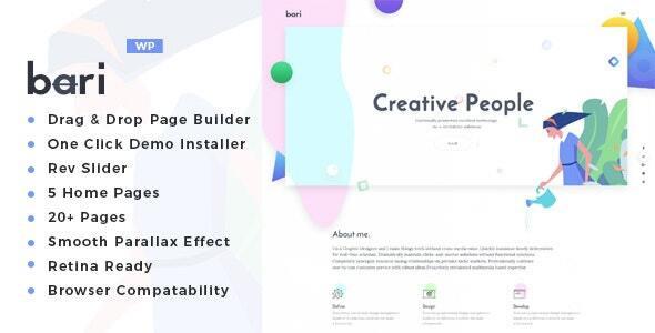 Bari - Portfolio and SEO /Digital Agency WordPress Theme