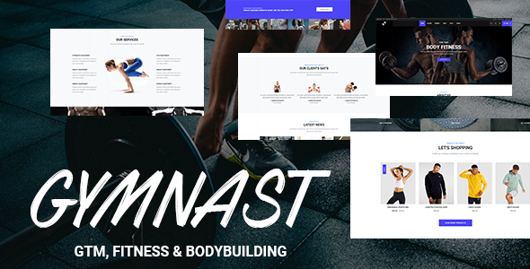 Gymnast - GYM, Fitness, Bodybuilding, Yoga and Nutrition Bootstrap 4 Template