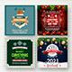 Christmas & New Year Social Media Banners