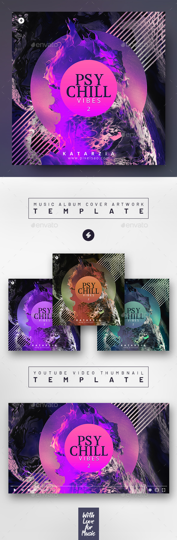 Psychill Vibes 2 – Music Album Cover Art / Video Thumbnail Template