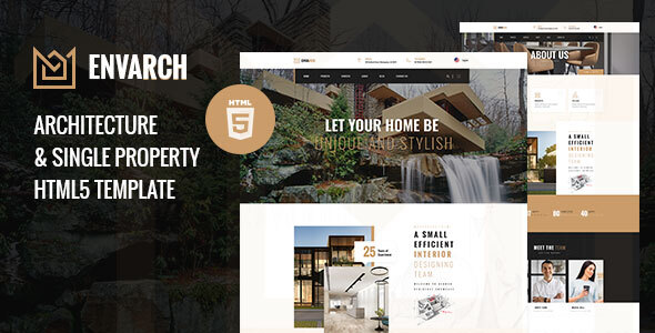 EnvArch - Architecture and Single Property HTML5 Template