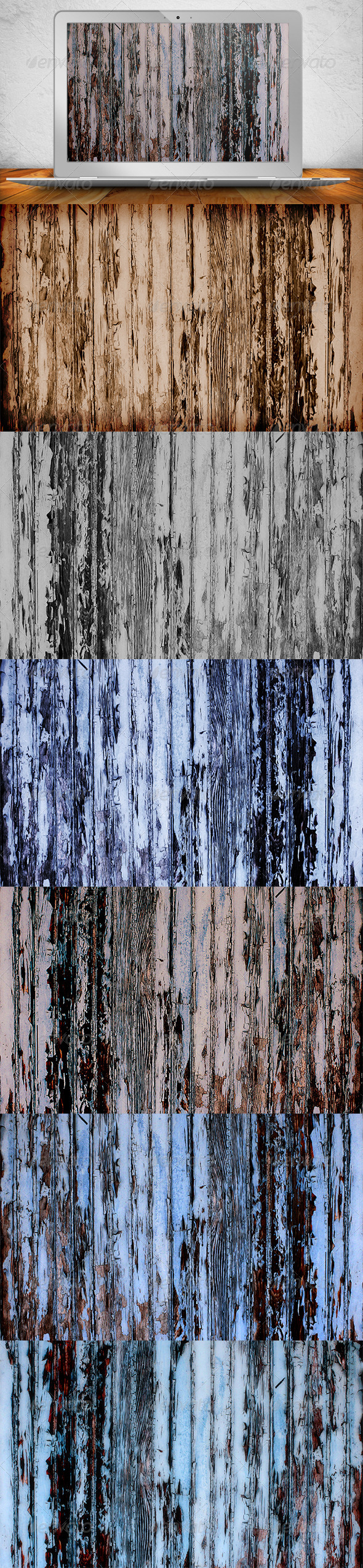 Old Paint Wood Textures - Wood Textures