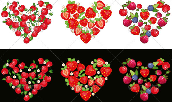 Heart Fruit Set - Food Objects