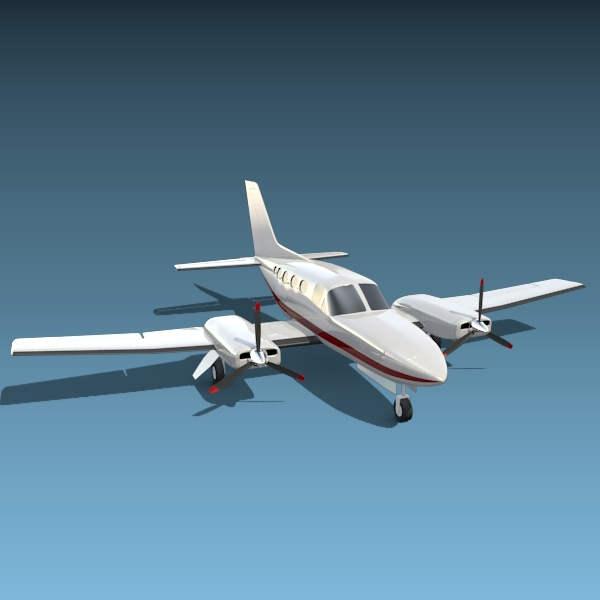 Cessna Chancellor private propeller airplane - 3DOcean Item for Sale