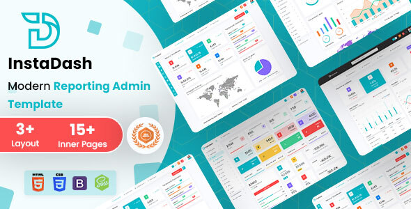 Instadash - Reporting Admin Dashboard HTML + SCSS