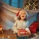 girl with Christmas gift - PhotoDune Item for Sale