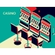 Casino Slot Machine in Isometric Flat Style