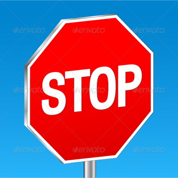 Stop sign - Conceptual Vectors