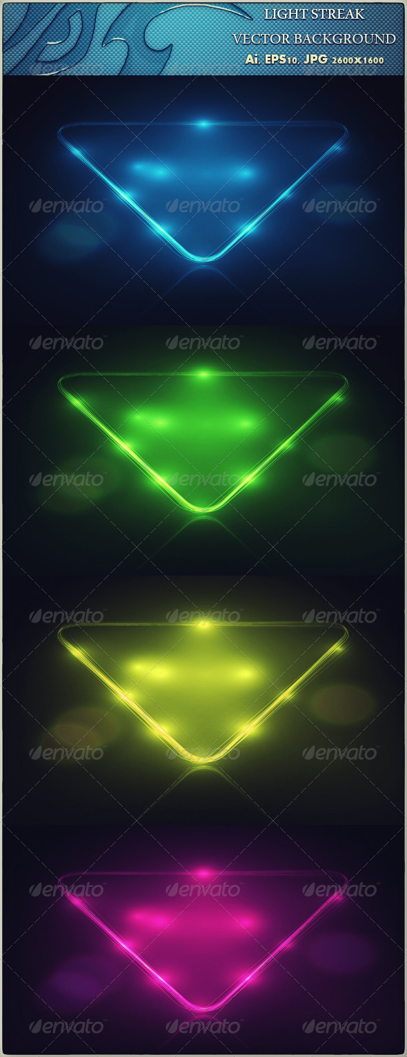 Light Streak - Vector Background - Backgrounds Decorative