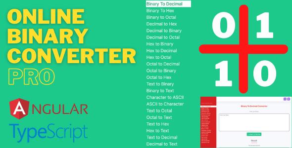 Online Binary Converter Pro (Angular 11 & Firebase) Full Production Ready App (Admin Panel, Adsense)