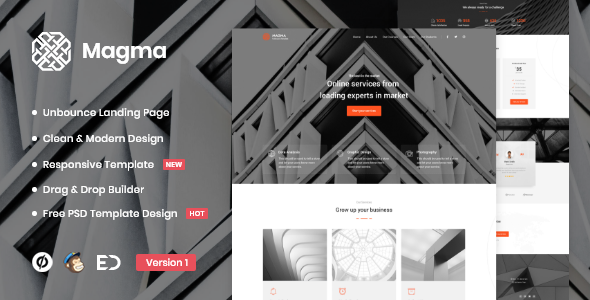 Magma - Business Unbounce Landing Page Template