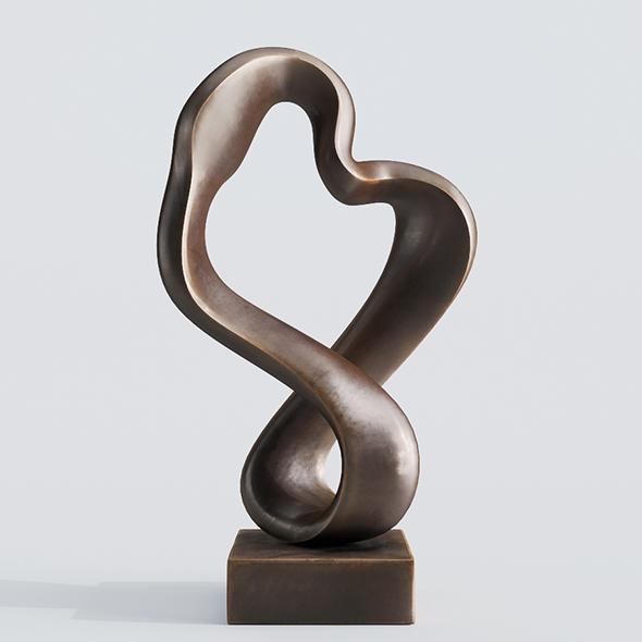Modern Decorative Abstract Bronze Art Sculpture 10