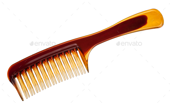 Plastic comb for women - Stock Photo - Images