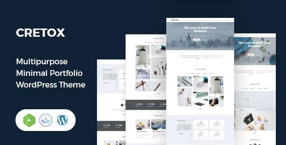 Incredible Cretox - Multipurpose Minimal Portfolio WordPress Theme