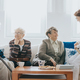 Nurse talking to patients - PhotoDune Item for Sale