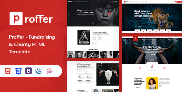 Proffer - Fundraising & Charity HTML Template