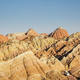 beautiful hilly landscape and bus in zhangye - PhotoDune Item for Sale