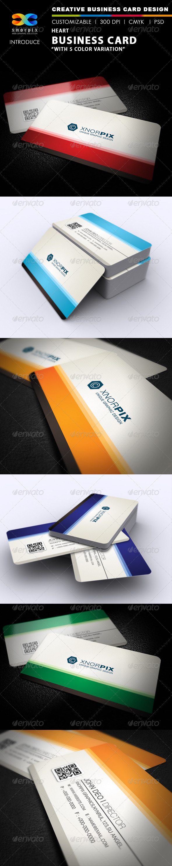 Heart Business Card - Corporate Business Cards