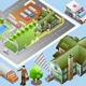 Isometric of Detailed City map - GraphicRiver Item for Sale